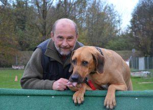 Obmann mit Hund